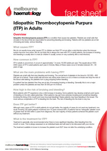 ITP in Adults - Fact Sheet