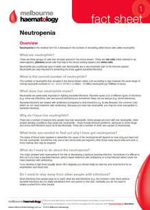 Neutropenia - Fact Sheet