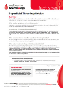 Superficial Thrombophlebitis - Fact Sheet