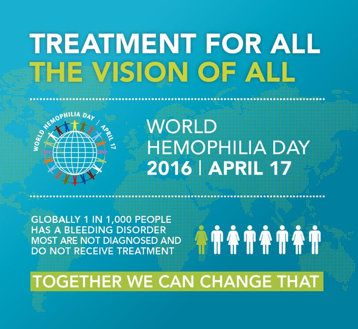 World Haemophilia Day 17 April 2016