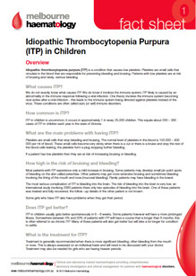 ITP in Children - Fact Sheet
